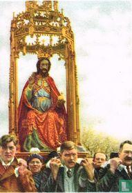Hakendover - Bedevaartgangers dragen het mirakuleuze beeld van den Zaligmaker