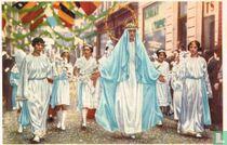 Hoei - De Processie der Mariale Feesten. De Sterrenkroon