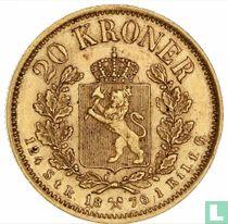 Norwegen 20 Kroner 1876