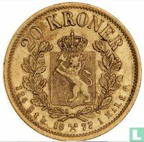Norwegen 20 Kroner 1877