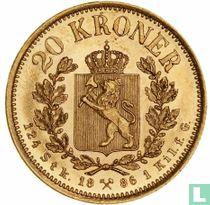 Norwegen 20 Kroner 1886