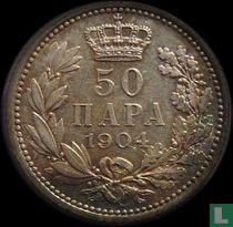 Servië 50 para 1904