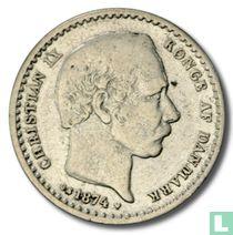 Denemarken 25 øre 1874
