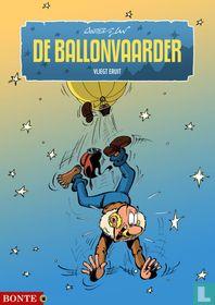 De ballonvaarder vliegt eruit
