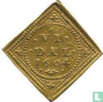 Denemarken 6 speciedaler 1604
