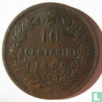 Italy 10 centesimi 1866 (N)