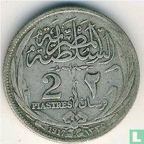 Egypte 2 piastres 1917 (H - zonder binnen cirkel)