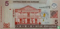 Suriname 5 Dollar 2009