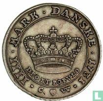 Denemarken 1 kroon 1731 (grote kroon)