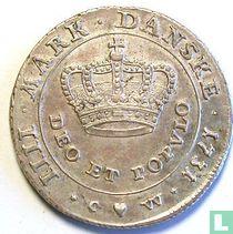 Denemarken 1 kroon 1731 (kleine kroon)