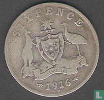 Australien 6 Pence 1916