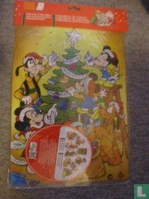 Mickey en Goofy bij de Kerstboom