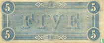 Confederate States of America  5 dollars  1864
