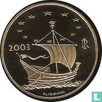 """Italy 50 euro 2003 (PROOF) """"Europa delle Arti"""""""