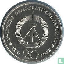 "DDR 20 mark 1990 (zilver) ""Opening of Brandenburg Gate"""