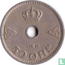 Norwegen 50 Øre 1941 (Kupfer-Nickel)