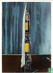 Doorsnede van een raket type Rothmann