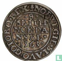 Denemarken 8 skilling 1563