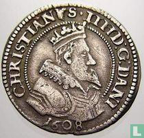 Denemarken 8 skilling 1608 (klaverblad)