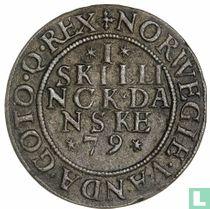 Denemarken 1 skilling 1579