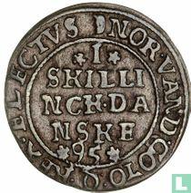 Denemarken 1 skilling 1595