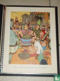 R.I.T. Genval promotieprent. Assyrie - Malade consultant la foule sur la place de Ninive