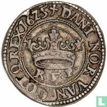 Dänemark ½ Krone 1625