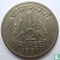 India ½ rupee 1951