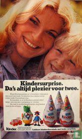 Knipsel advertentie van Kinder Surprise