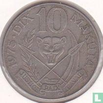 Zaïre 10 makuta 1975