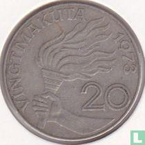 Zaïre 20 makuta 1973