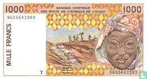 West-Afrikaanse Staten (Togo) 1000 frank