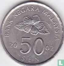 Maleisië 50 sen 2002
