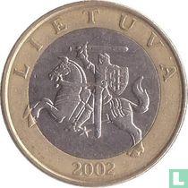Lithuania 2 litai 2002