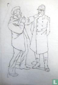 originele potloodschets voor politieke prent