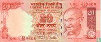 India 20 Rupees 2009 (E)