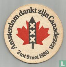Amsterdam dankt zijn Canadezen
