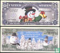 LET IT SNOW Kerst SNEEUWPOP biljet