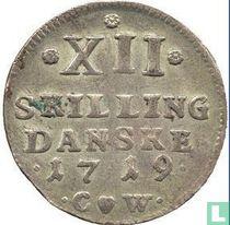 Denemarken 12 skilling 1719