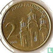 Servië 2 dinara 2007