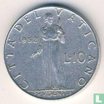 Vaticaan 10 lire 1952