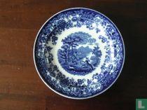 Amazone blauw dessertbord