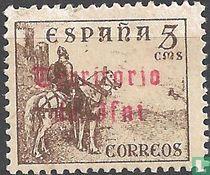 El Cid te paard met opdruk