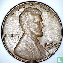 Vereinigte Staaten 1 Cent 1964 (D - Buchstabe nahe von Jahr)