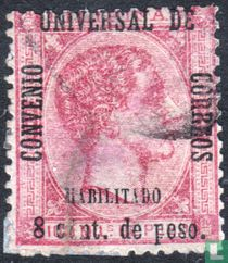 King Alfonso XII, with imprint