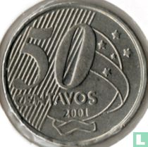 Brazilië 50 centavos 2001
