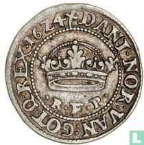 Dänemark ½ Krone 1624 (Borstbeeld)