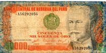 Peru 50000 Soles de Oro 1984