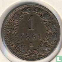 Austria 1 kreuzer 1861 (E)
