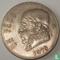 Mexico 1 peso 1970 (brede datum)